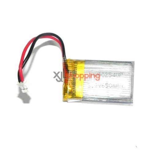 L6016 battery with L6016 plug 3.7V 650mAh LS lishitoys L6016 helicopter spare parts