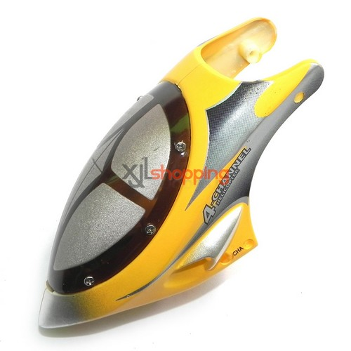 Yellow L6021 head cover LS lishitoys L6021 helicopter spare parts