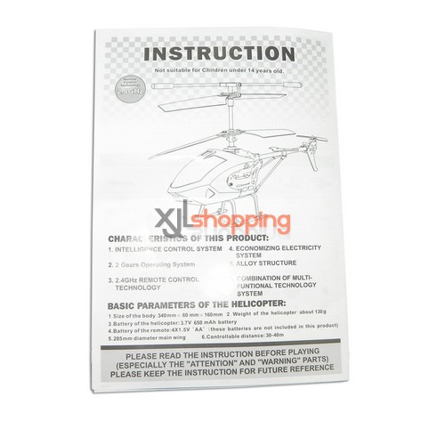 L6026 english manual book LS lishitoys L6026 helicopter spare parts