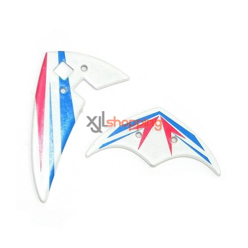Blue L6029 tail decorative set LS lishitoys L6029 helicopter spare parts