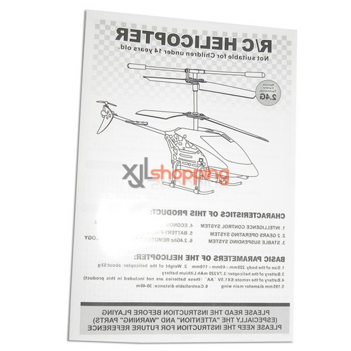 L6029 english manual book LS lishitoys L6029 helicopter spare parts