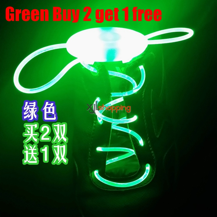 1 Pair Buy 2 get 1 free the third generation LED luminescent shoelace flashing luminous shoelace fluorescence skates skating creative gift