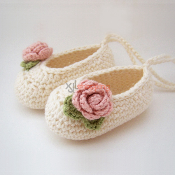 Hand-knitted baby shoes、Newborn soft