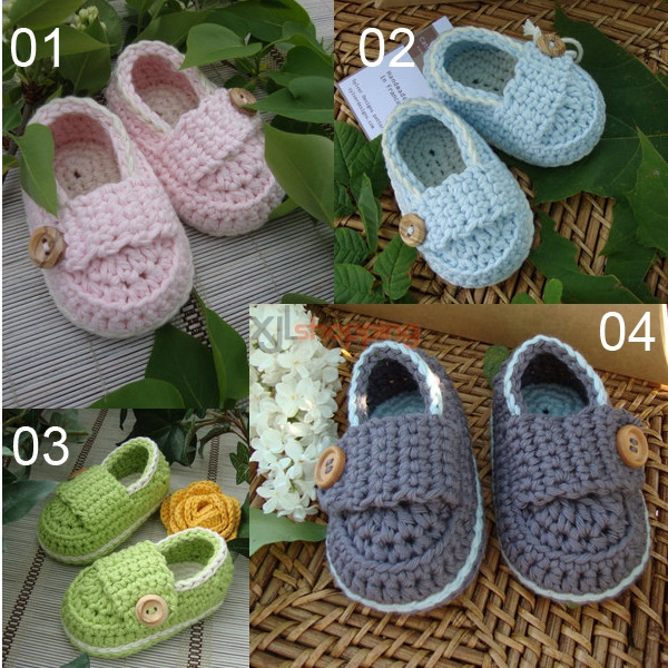 Hand-knitted baby shoes、Baby toddler shoes