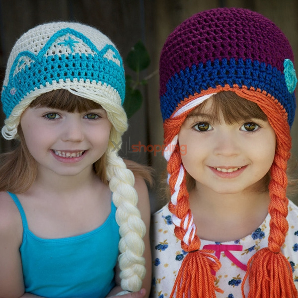 Hand-knitted hat Elsa hats and Anna hats
