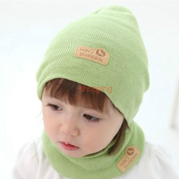 Autumn and winter wool hat cap sleeve(hat + scarf)