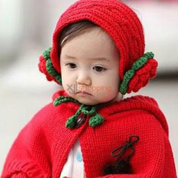 baby wool shawl hat cap warm wind sets