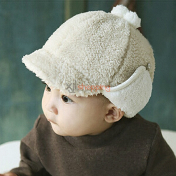 Boys and girls thick warm baby ear cap