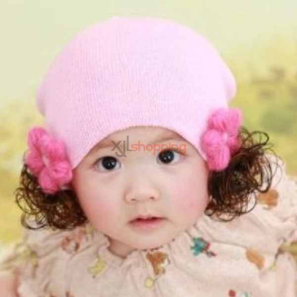 Sunflower five leaf grass child type wig head cap