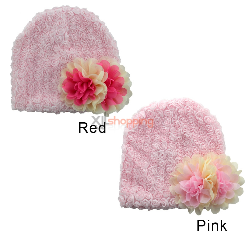 Chiffon flower princess hat