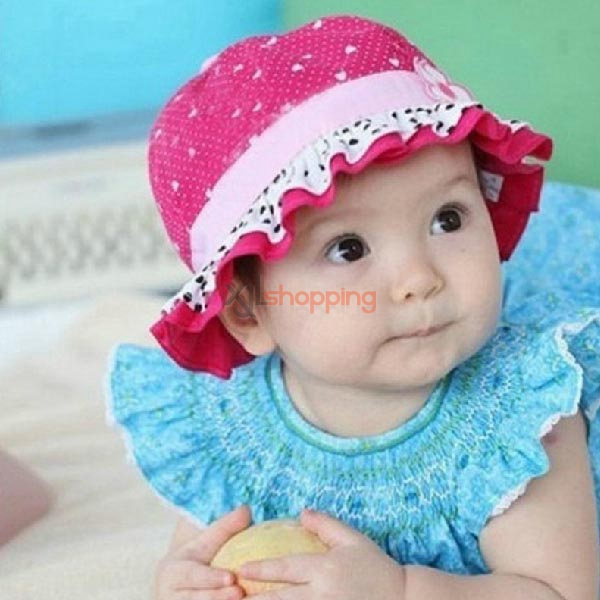 Children lace flower pots hat