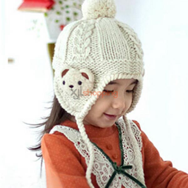 Children Bear hat + scarf two-piece