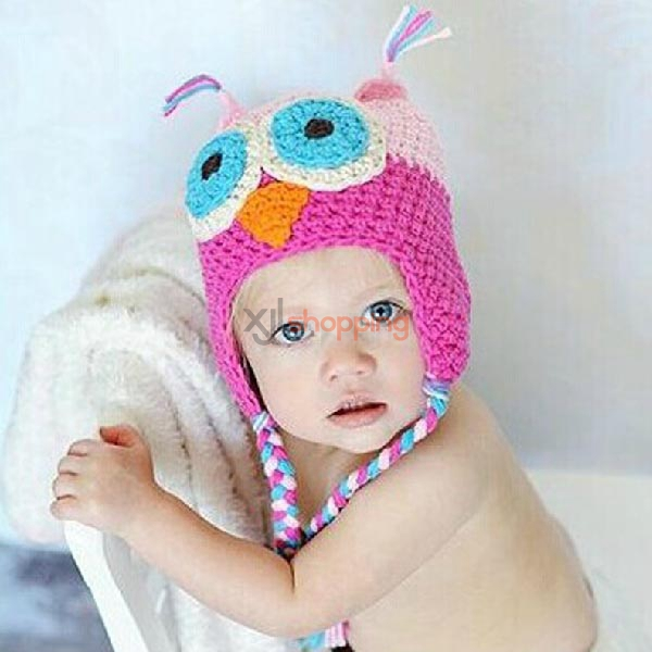baby warm pure hand knitted hat ear protection