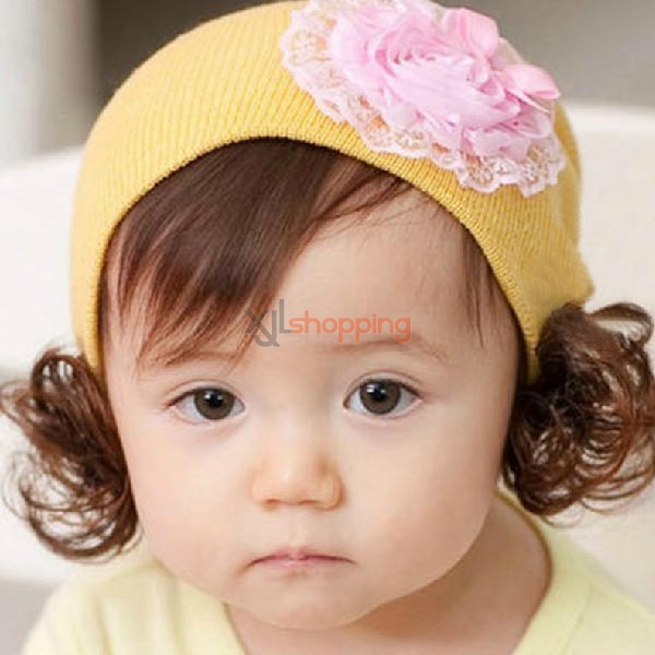 Lace flower child wig cap