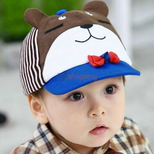 Bow + Bear cloth cap for children