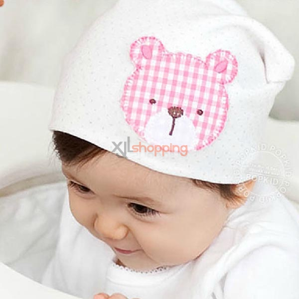 Plaid Bear hedging hat for baby