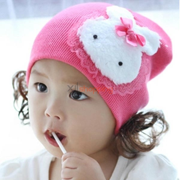 Children hedging cap lace bunny