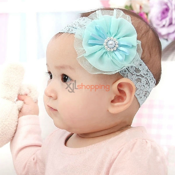 Pearl flowers headband for children