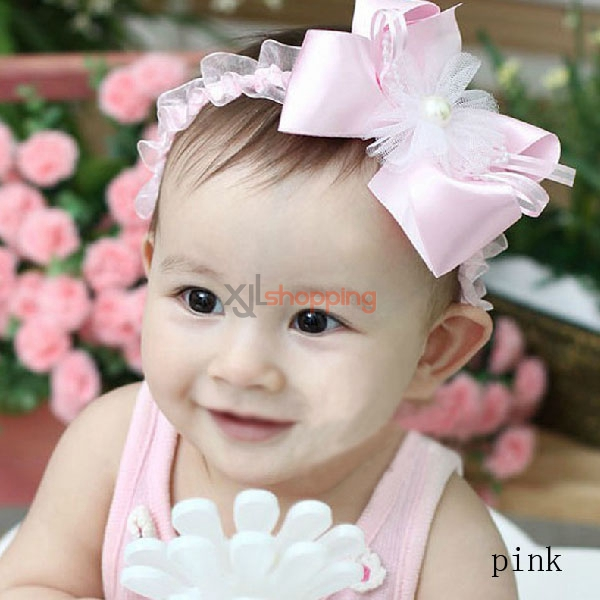 Korean version of the new children's fashion pearl bows headband
