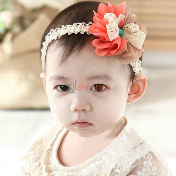 Korean version of the two-color Chiffon flower headband