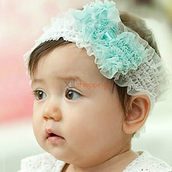Children's lace bow headband