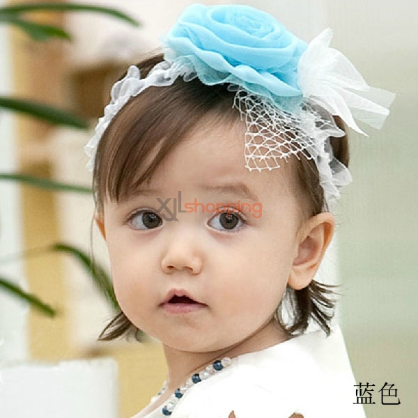Net yarn lace headband flowers children