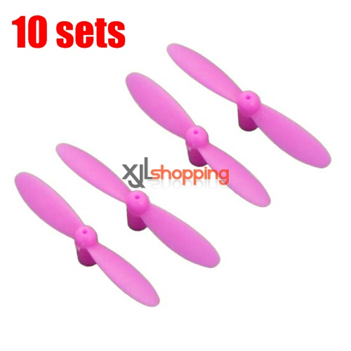 10 sets [Pink]CX-10 main blades CX-10 quadcopter spare parts