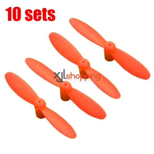 10 sets [Orange]CX-10 main blades CX-10 quadcopter spare parts