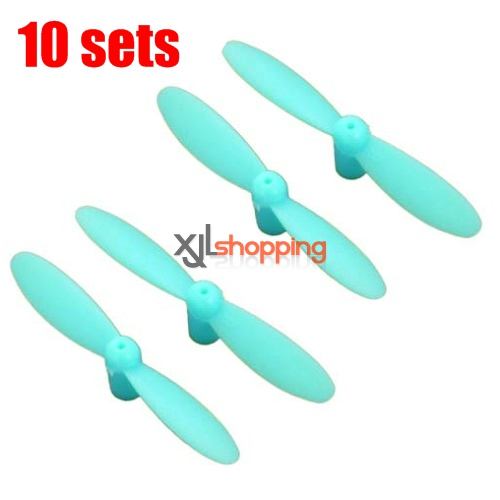 10 sets [Blue]CX-10 main blades CX-10 quadcopter spare parts