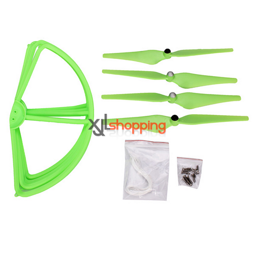 [Green]CX-20 main blades + propeller prop fender bracket CX-20 quadcopter spare parts