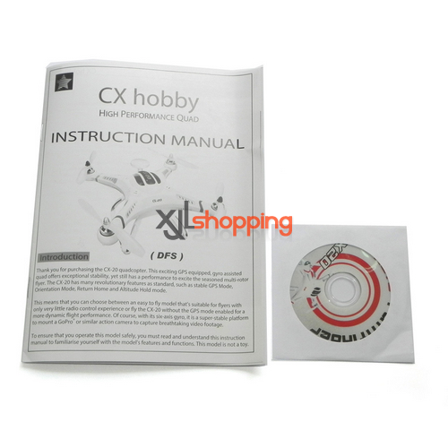 CX-20 english manual book CX-20 quadcopter spare parts