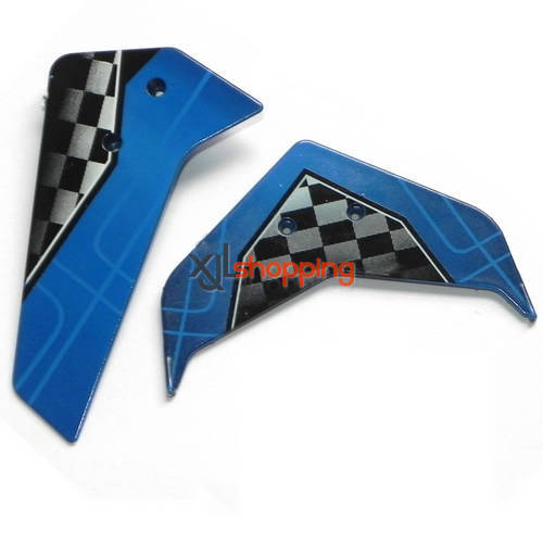 Blue U16 U16W tail decorative set UDI U16 U16W helicopter spare parts