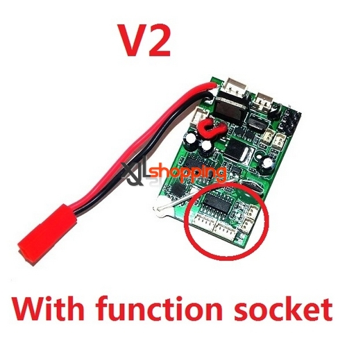 V2 with function socket 2.4G V913 receiver pcb board WL Wltoys V913 helicopter spare parts