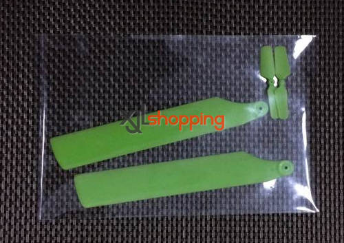 Green V977 upgrade main blades WL Wltoys V977 helicopter spare parts