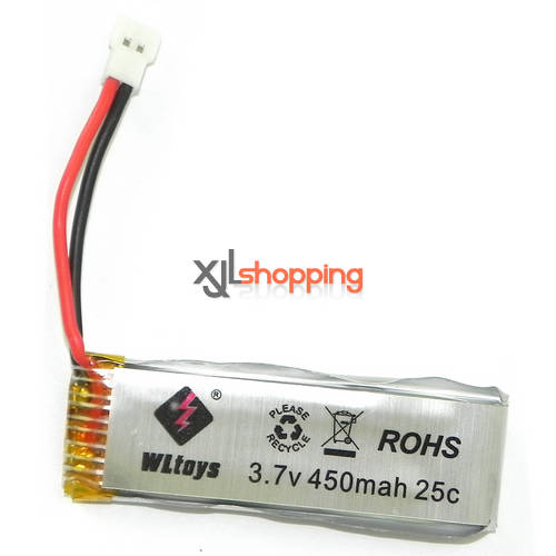 V977 battery 3.7V 450mAh 9128 plug WL Wltoys V977 helicopter spare parts
