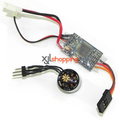 V977 Brushless ESC + Brushless main motor set WL Wltoys V977 helicopter spare parts
