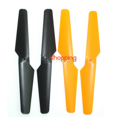 X30 X30V main blades set xinxun x30 x30v quadcopter ufo spare parts Black (Forward + Reverse) + Orange (Forward + Reverse) 4PCS