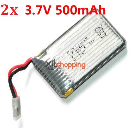 2pcs X5C battery 3.7V 500mAh 9128 plug SYMA X5C quadcopter spare parts [SYMA-X5C-14]