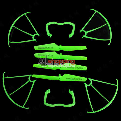 Green X5C main blades + Undercarriage + Protection frame set