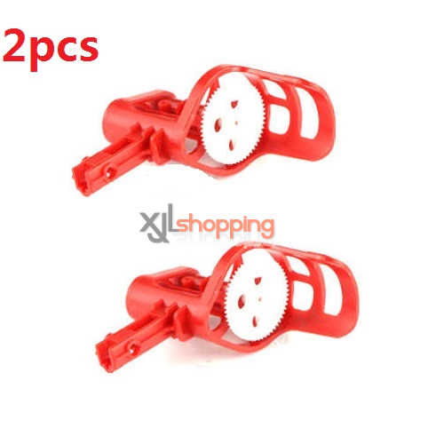 2pcs Red motor deck and main gear set