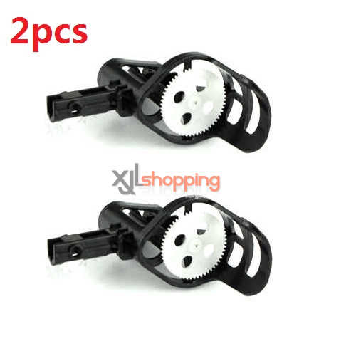 2pcs Black motor deck and main gear set