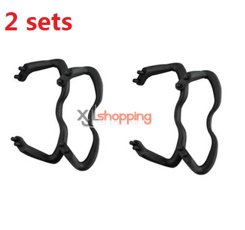 2 sets Black landing skid