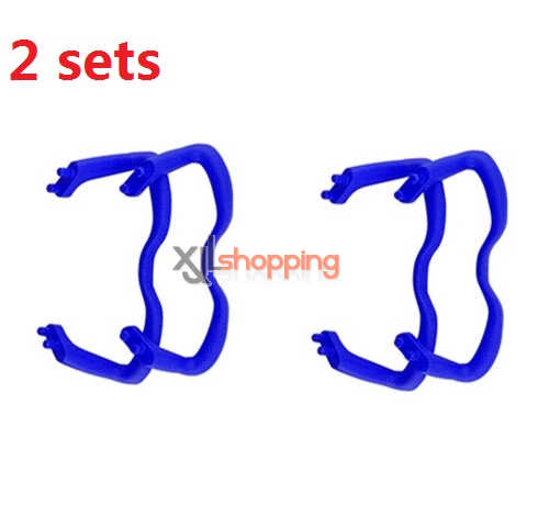 2 sets Blue landing skid