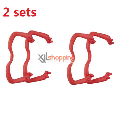 2 sets Red landing skid