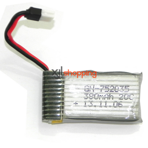 YD-716 battery 3.7V 380mAh JST plug Attop toys YD-716 UFO Quadcopter spare parts