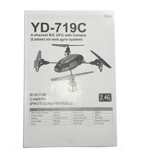 YD-719C english manual book Attop toys YD-719C UFO Quadcopter spare parts