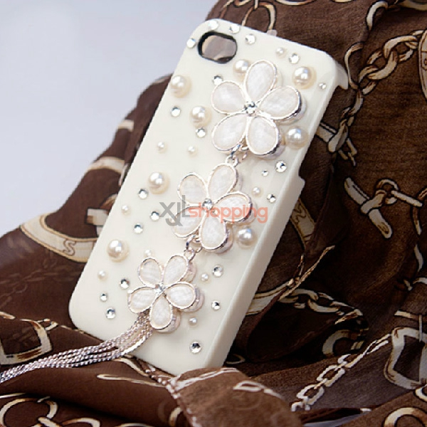 Mobile phone shell deco: Dynamic tassel Sakura rhinestones material package