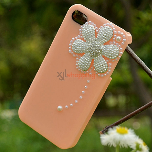 Mobile phone shell deco: Alloy Pearl small daisy[Finished product suit for Ihpone]