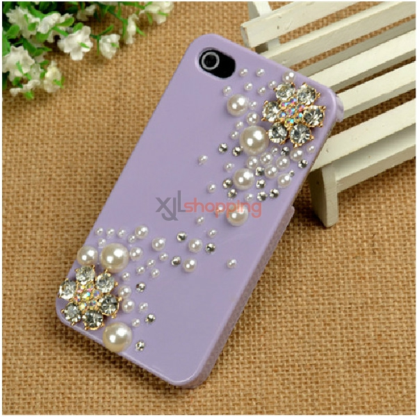 Mobile phone shell deco: 7 color plum blossom Pearl Rhinestone material package