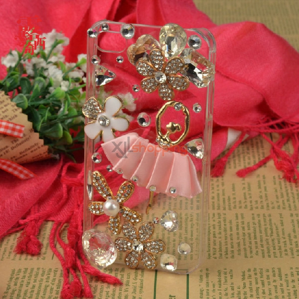 Mobile phone shell deco: Ballet girl daisies flowers material package